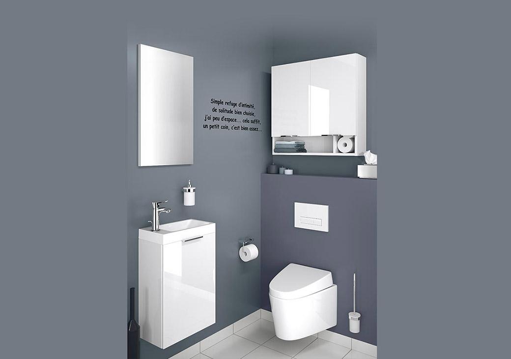 meuble haut wc faible profondeur boutique gain de. Black Bedroom Furniture Sets. Home Design Ideas