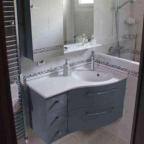 Meuble d\'angle suspendu salle de bain - Boutique-gain-de ...