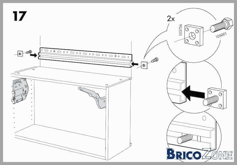 Comment fixer un meuble haut ikea