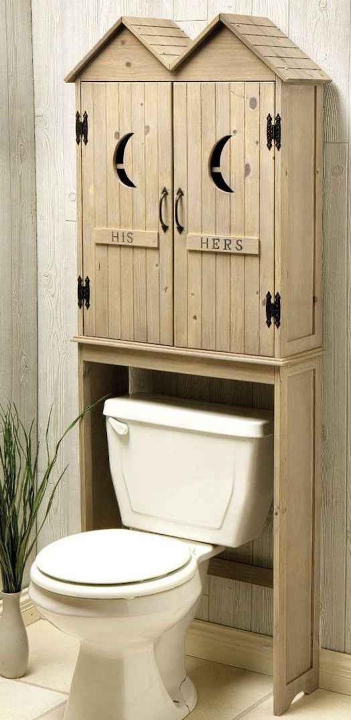 Meuble dessus wc design