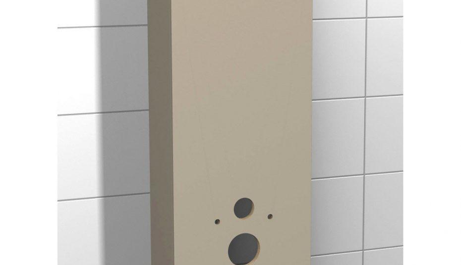 Meuble étagère dessus wc en bois blanc h.178 cm