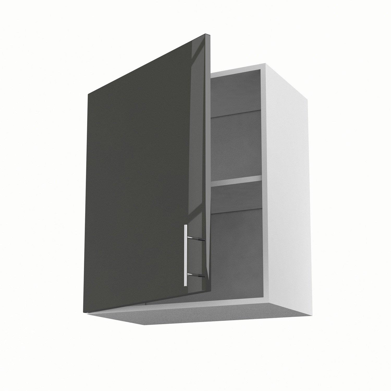 Meuble haut wc gris - Boutique-gain-de-place.fr