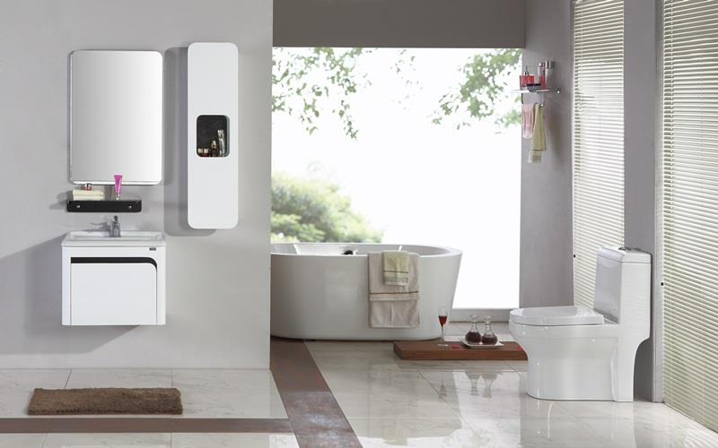 meuble haut salle de bain noir laqu boutique gain de. Black Bedroom Furniture Sets. Home Design Ideas