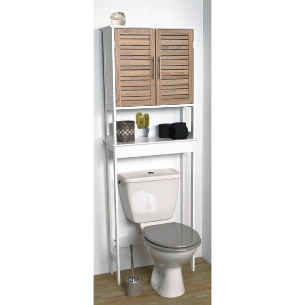 Meuble dessus wc taupe