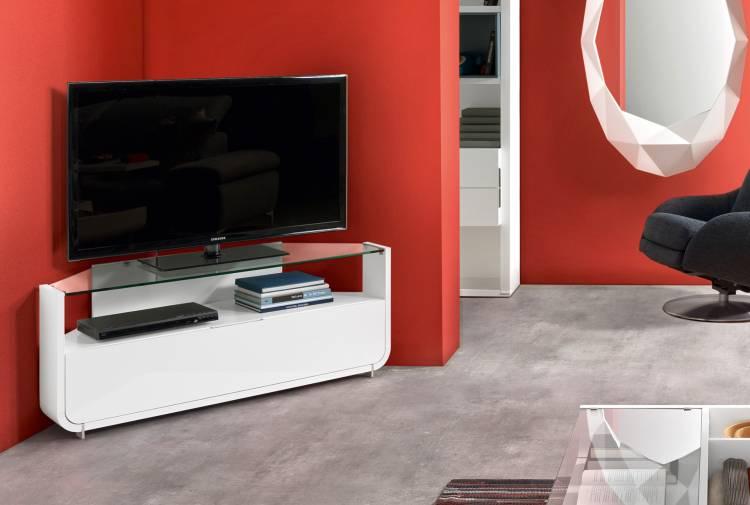 Meuble d 39 angle pour tv boutique gain de - Meuble tv gain de place ...
