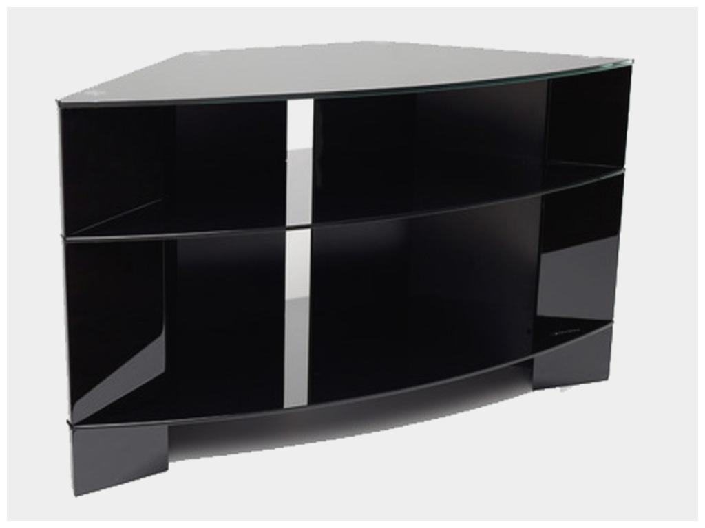 Meuble tv d 39 angle noir boutique gain de - Meuble tv gain de place ...