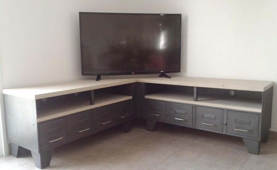 Image meuble tv d 39 angle boutique gain de - Meuble tv angle fly ...