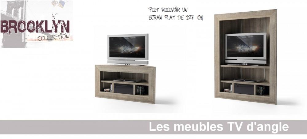Meuble Tv D Angle Pour Grande Tv Boutique Gain De Place Fr