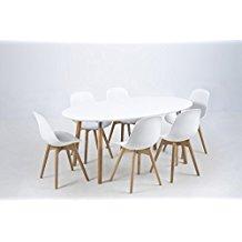 Table Salle A Manger Scandinave Ovale Extensible Boutique Gain De