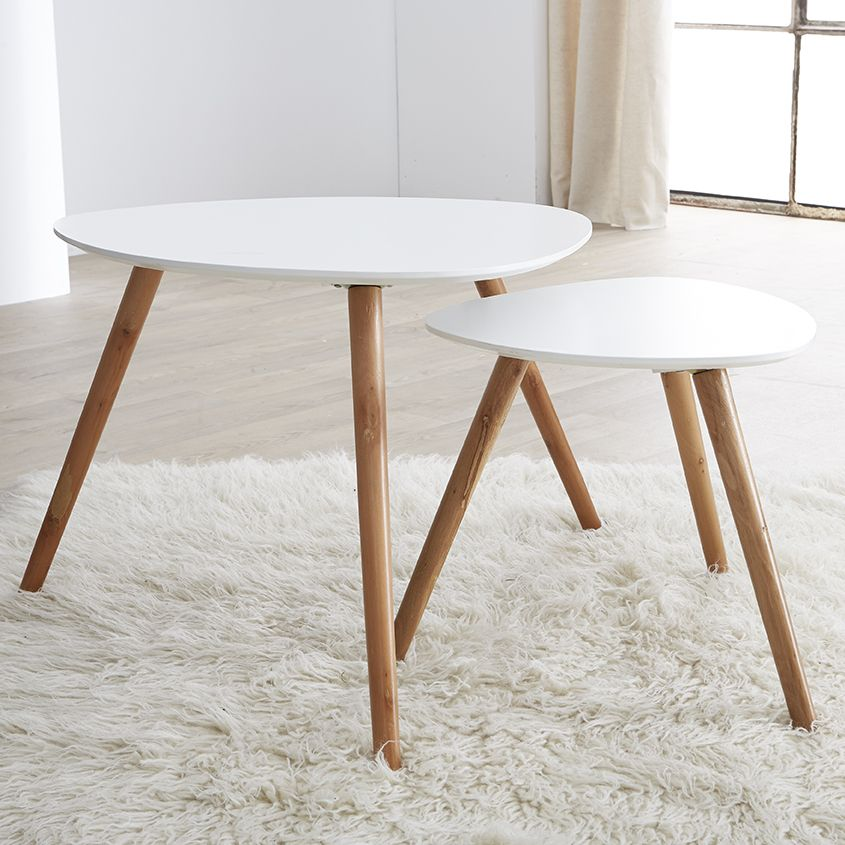 Table scandinave rose pale