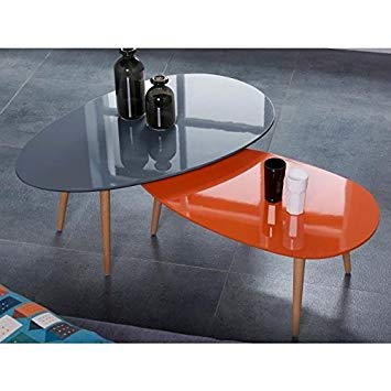 Table scandinave orange