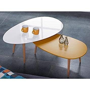 Table scandinave moutarde