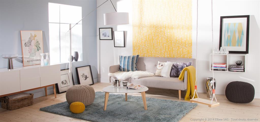 Salon complet style scandinave - Boutique-gain-de-place.fr