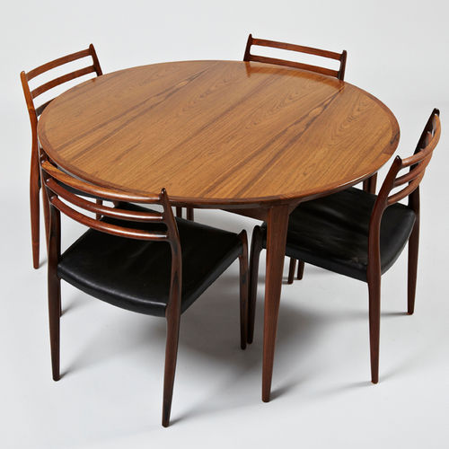 Table ronde bois design scandinave