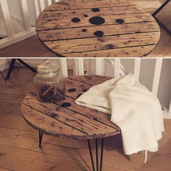 Table basse palette style scandinave