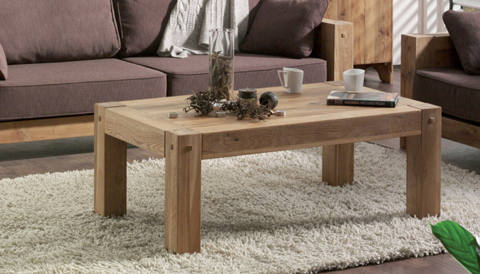 Table Basse Chene Massif Scandinave Boutique Gain De Place Fr