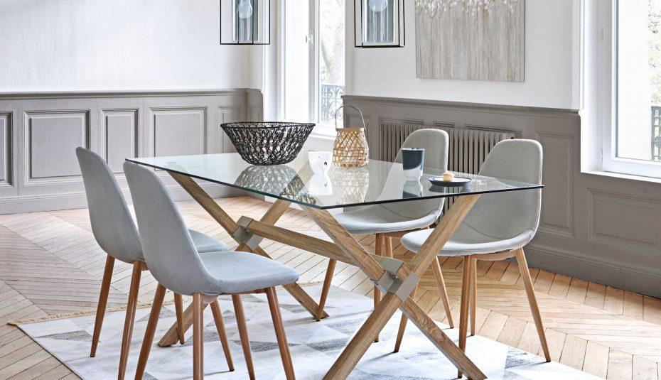 Chaise scandinave blanche table noire - Boutique-gain-de ...