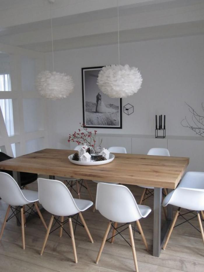 Table salle a manger avec chaise scandinave - Boutique-gain-de-place.fr