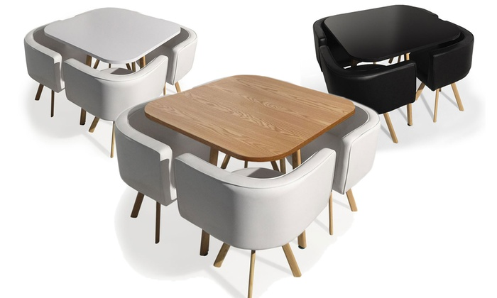 table avec chaise encastrable scandinave boutique gain. Black Bedroom Furniture Sets. Home Design Ideas