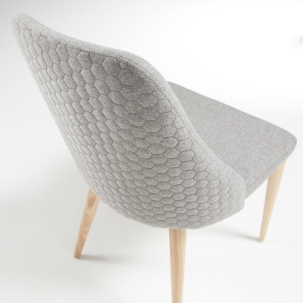 chaise scandinave tissu gris clair. Black Bedroom Furniture Sets. Home Design Ideas