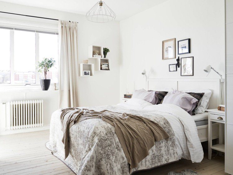 Idee deco chambre adulte style scandinave - Boutique-gain-de-place.fr