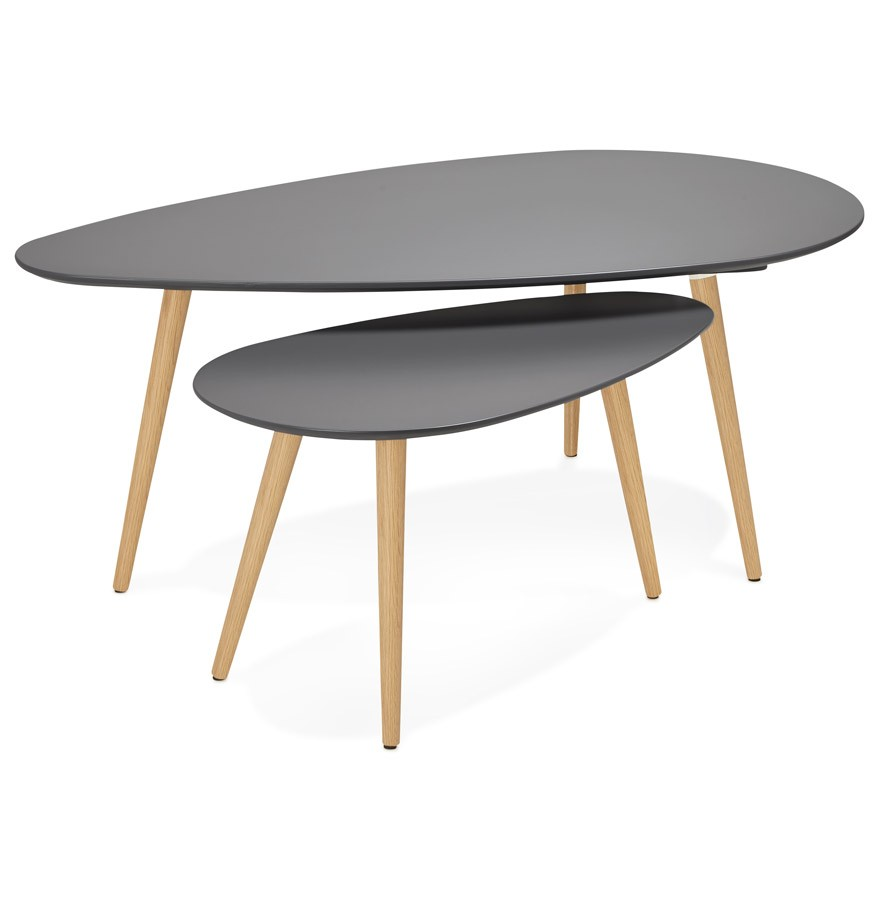 Table ovale scandinave grise