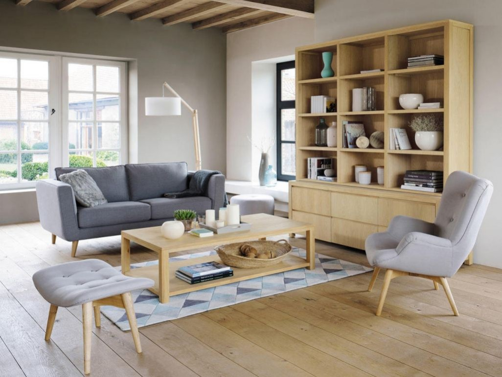 Salon scandinave blanc et pastel - Boutique-gain-de-place.fr