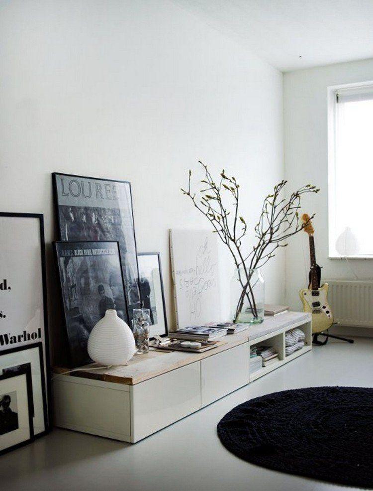 Deco meuble tv scandinave boutique gain de - Meuble tv gain de place ...