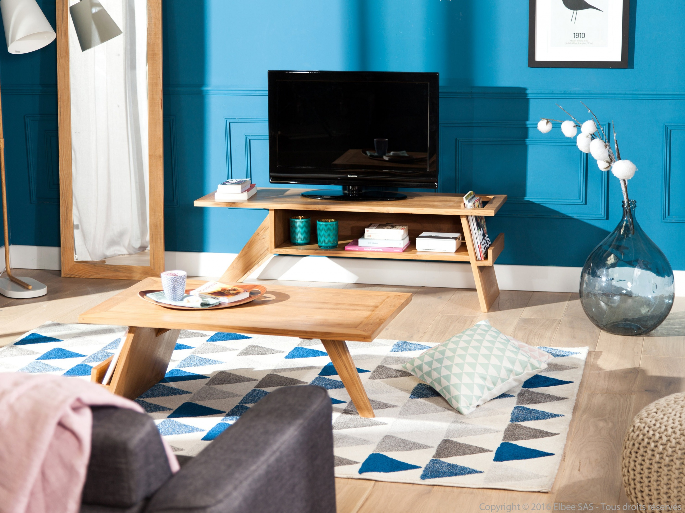 Salon scandinave bleu - Boutique-gain-de-place.fr