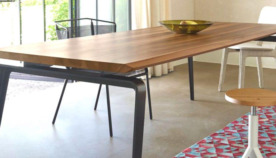 Table salle a manger scandinave avec rallonge boutique - Treteaux pour table salle manger ...