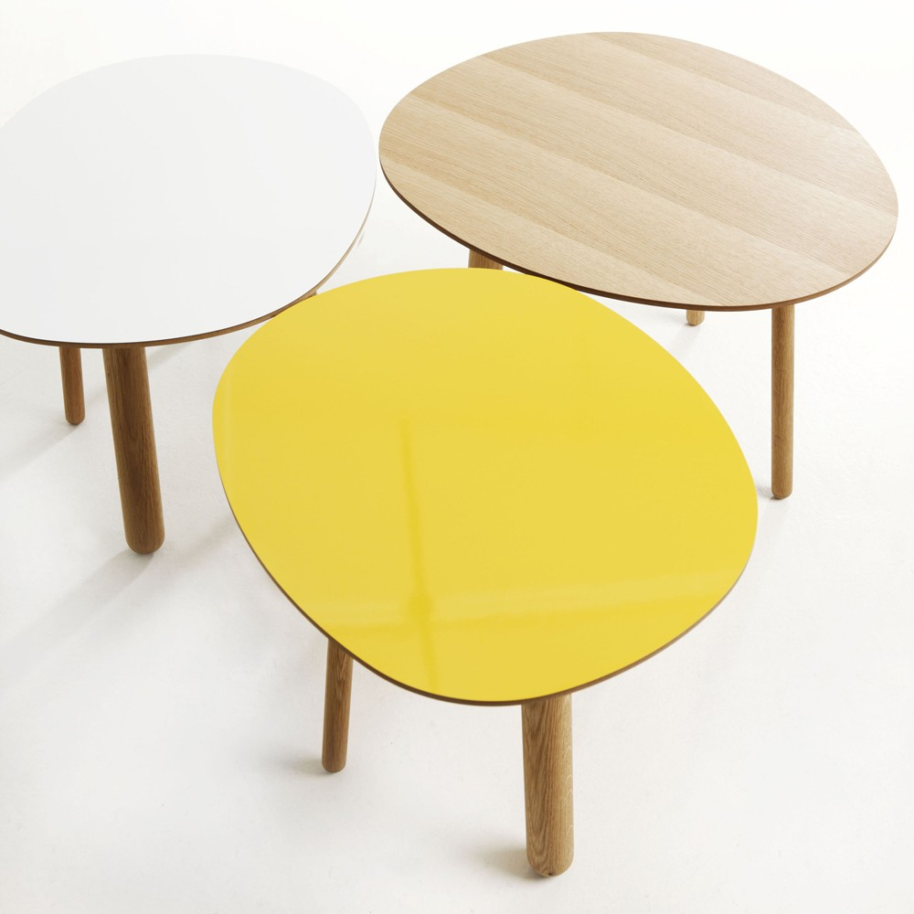 Table basse style scandinave jaune