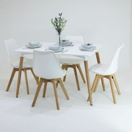 Table scandinave 4 chaises