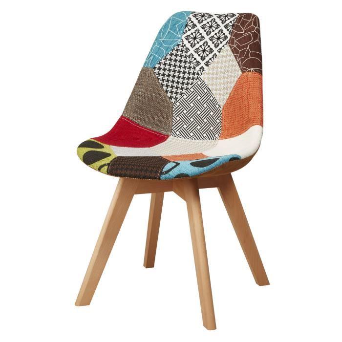 Chaise Bureau Scandinave Patchwork Boutique Gain De Place Fr
