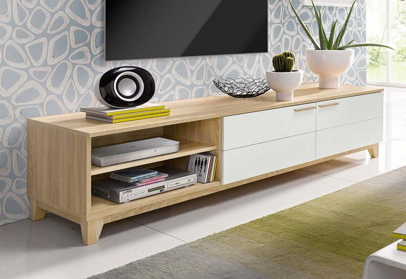 La redoute meuble tv scandinave boutique gain de - Meuble tv gain de place ...