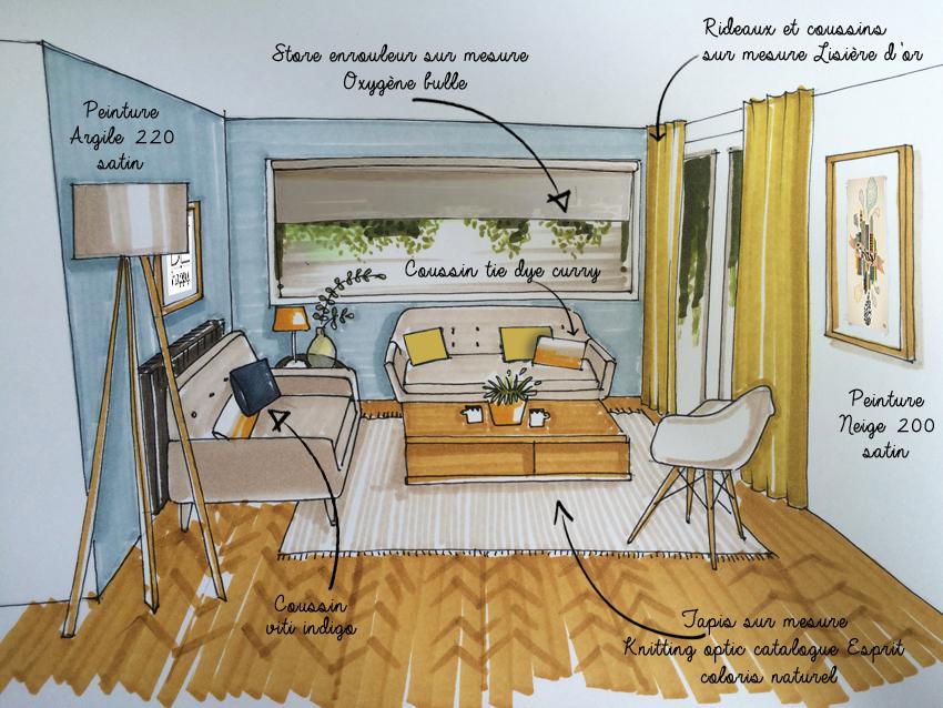 peinture scandinave salon boutique gain de. Black Bedroom Furniture Sets. Home Design Ideas