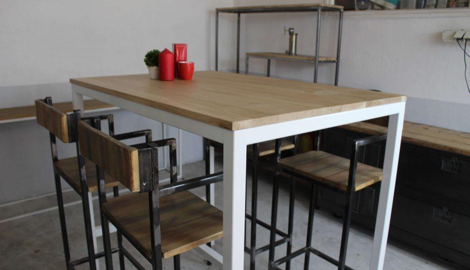 Table à manger scandinave 4 personnes