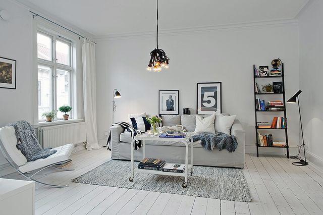 Salon scandinave sol gris - Boutique-gain-de-place.fr
