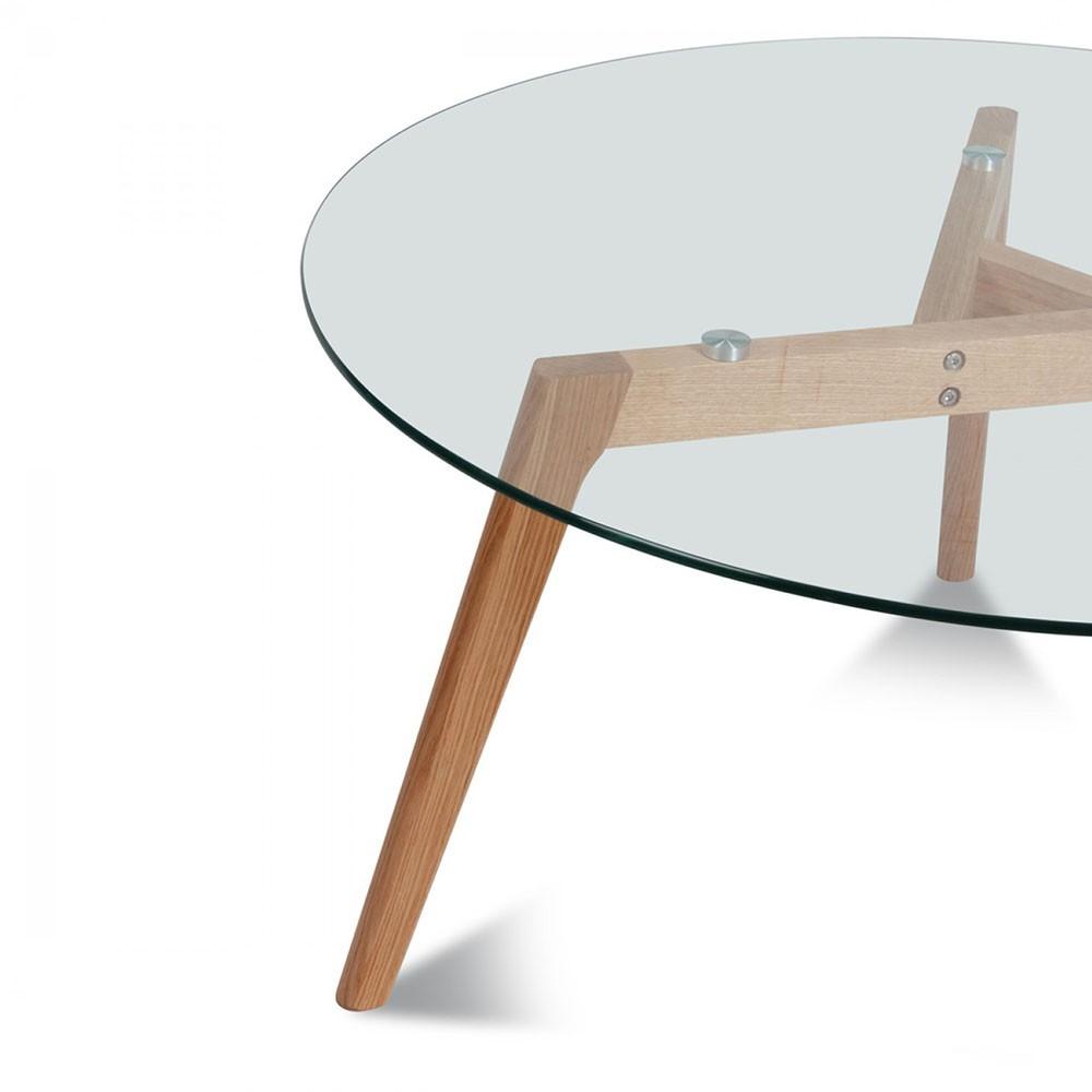 Table style scandinave en verre