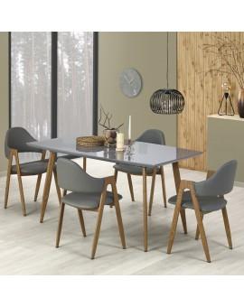 Table scandinave plateau gris