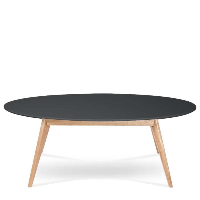 Table basse style scandinave noir