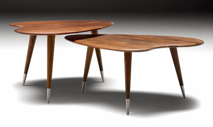 Table basse scandinave bordeaux