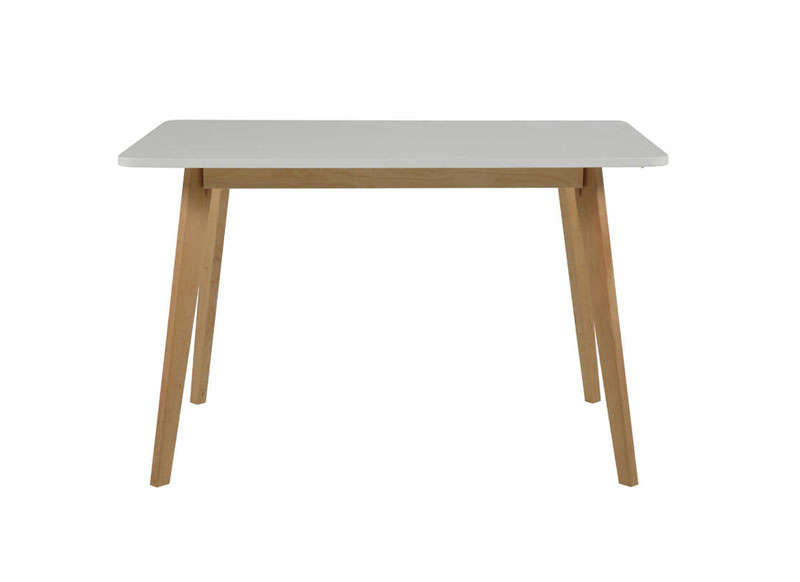 Table scandinave pied blanc