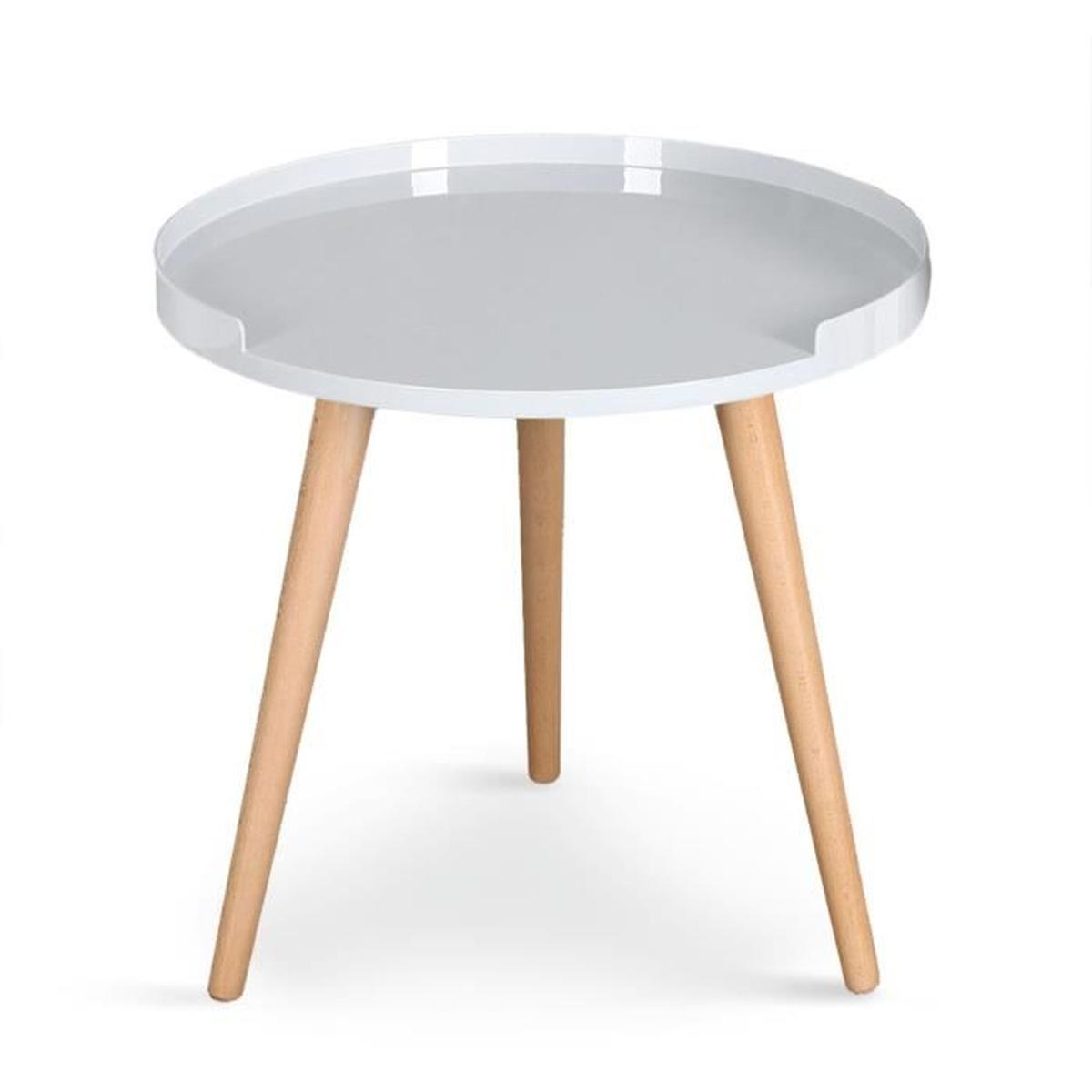 Table d'appoint scandinave jaune
