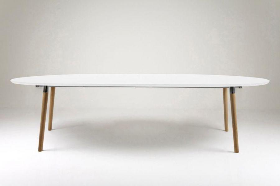 Table ronde style scandinave avec rallonge