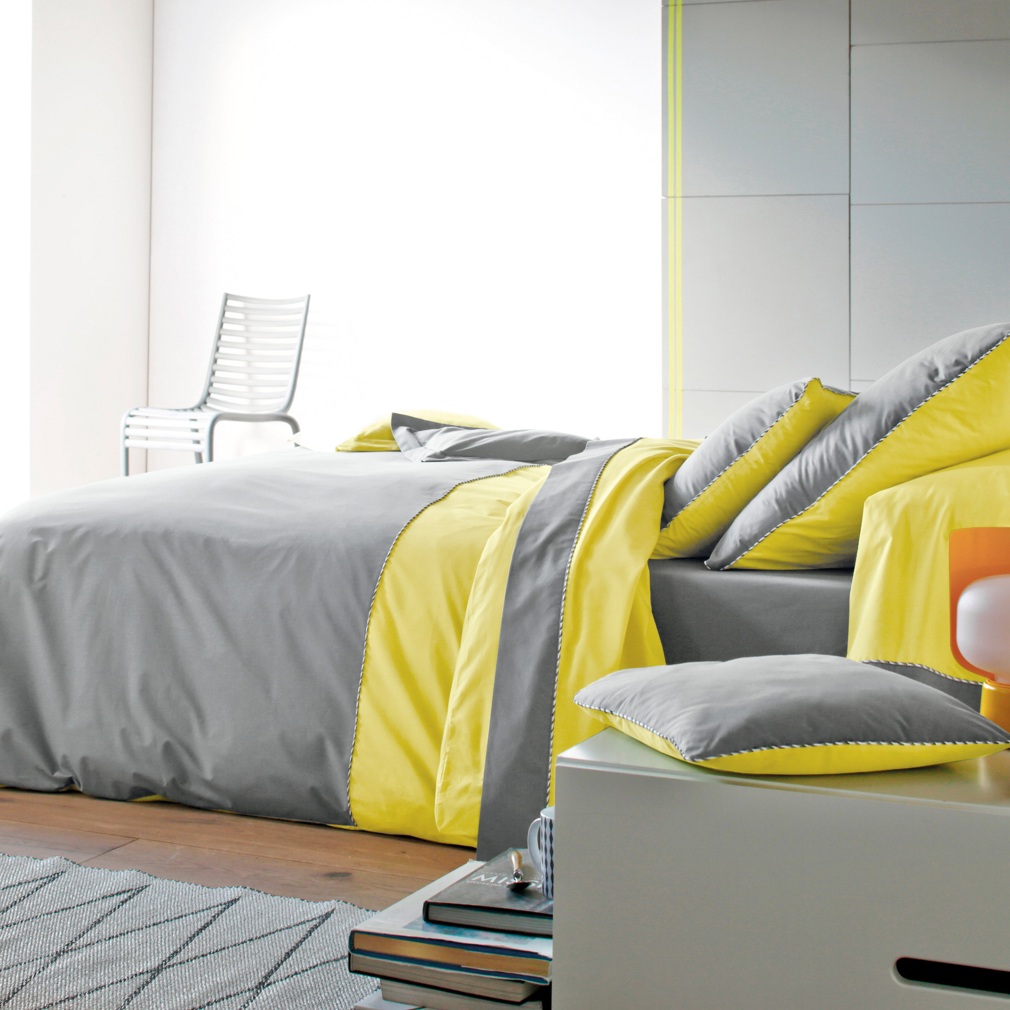 Deco scandinave chambre jaune - Boutique-gain-de-place.fr