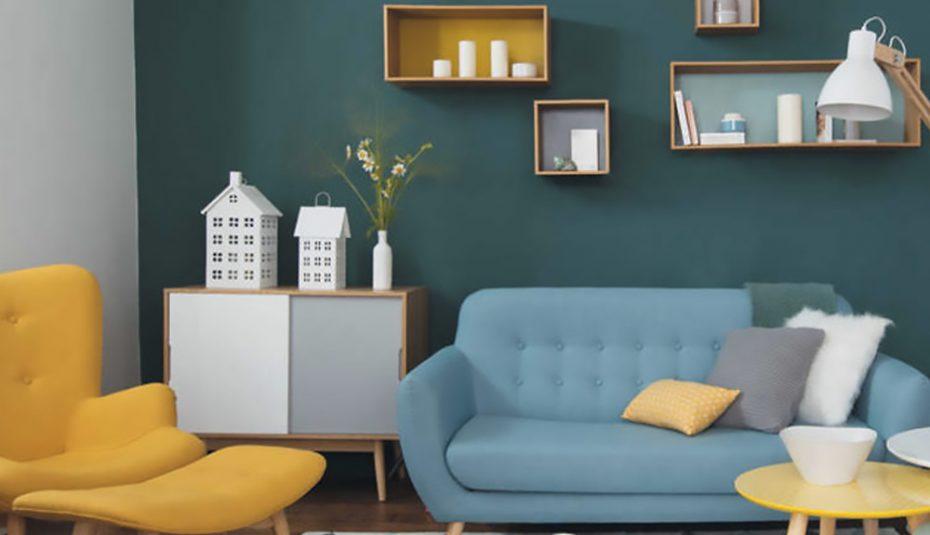 Deco Scandinave Jaune Bleu Boutique Gain De Place Fr
