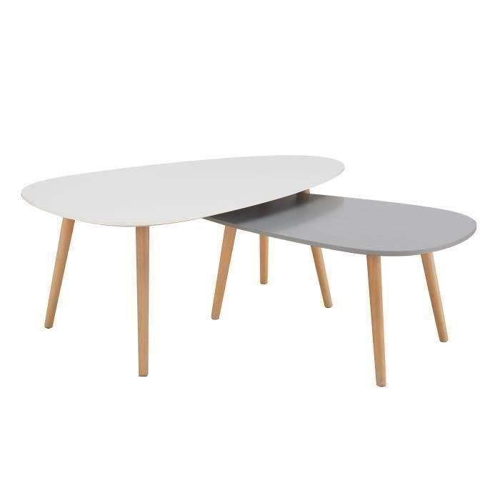 Table Basse Scandinave Gigogne Cdiscount Boutique Gain De