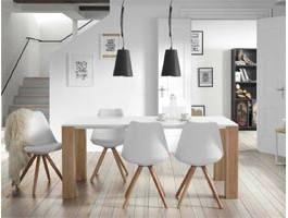 Table Salle A Manger Blanche Scandinave Boutique Gain De