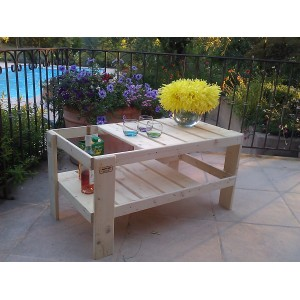 Table basse salon de jardin en palette - Boutique-gain-de ...