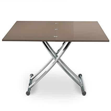 Table basse reglable hauteur bois